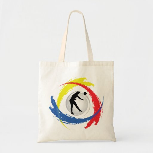 Volleyball Tricolor Emblem (Male) Tote Bag