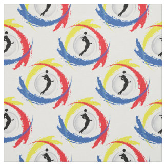 Volleyball Tricolor Sport Emblem (Female Version) Fabric