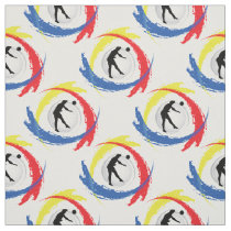 Volleyball Tricolor Sport Emblem (Male Version) Fabric