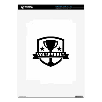 Volleyball trophy decal for iPad 2