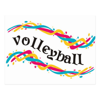 Volleyball Twists Postcard