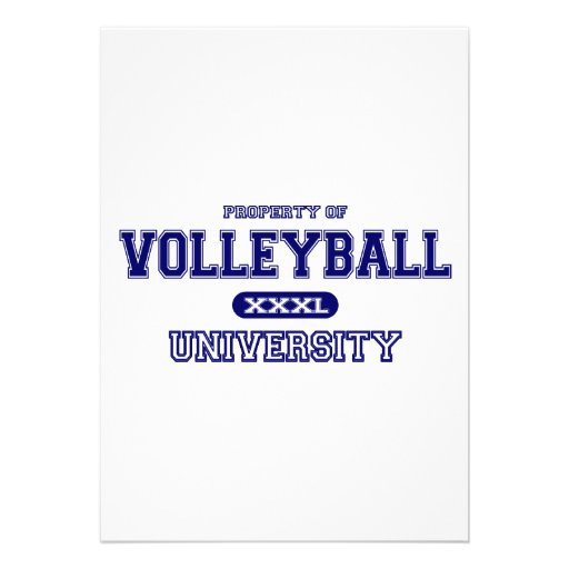 Volleyball University Custom Announcements