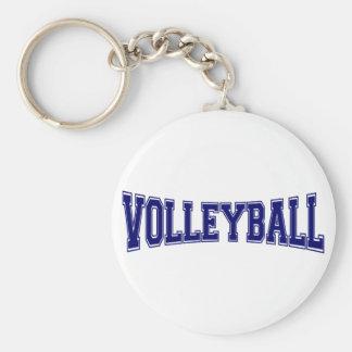 Volleyball University Style Keychain