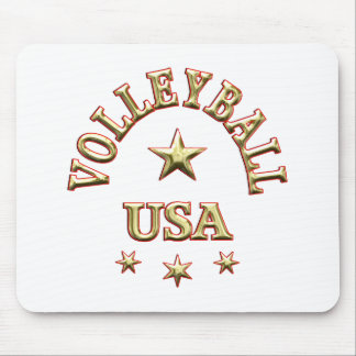 Volleyball USA Mouse Pads