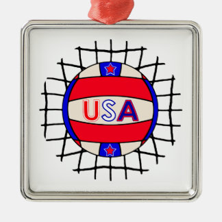 Volleyball USA Ornament
