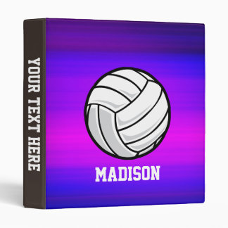Volleyball; Vibrant Violet Blue and Magenta Binder