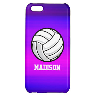 Volleyball; Vibrant Violet Blue and Magenta Cover For iPhone 5C