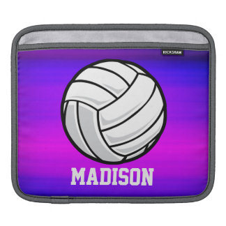 Volleyball; Vibrant Violet Blue and Magenta iPad Sleeves