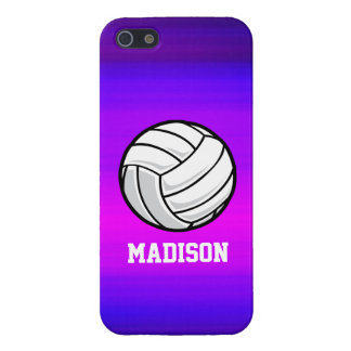 Volleyball; Vibrant Violet Blue and Magenta iPhone 5/5S Case