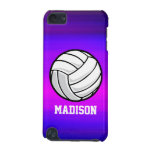 Volleyball; Vibrant Violet Blue and Magenta iPod Touch (5th Generation) Cases