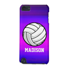 Volleyball; Vibrant Violet Blue And Magenta Ipod Touch (5th Generation) Cover at Zazzle
