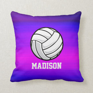 Volleyball; Vibrant Violet Blue and Magenta Pillow