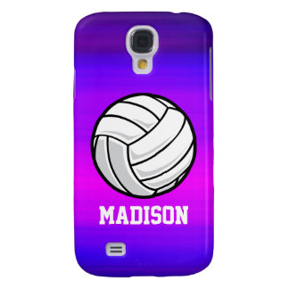 Volleyball; Vibrant Violet Blue and Magenta Samsung Galaxy S4 Case