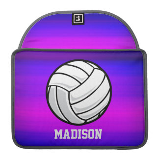 Volleyball; Vibrant Violet Blue and Magenta Sleeve For MacBooks