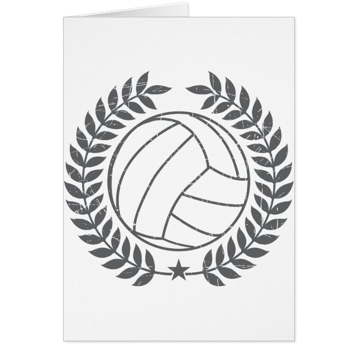 VolleyBall Vintage Graphic Card