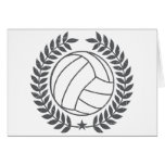 VolleyBall Vintage Graphic Greeting Cards