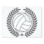 VolleyBall Vintage Graphic Invitation