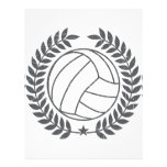 VolleyBall Vintage Graphic Letterhead
