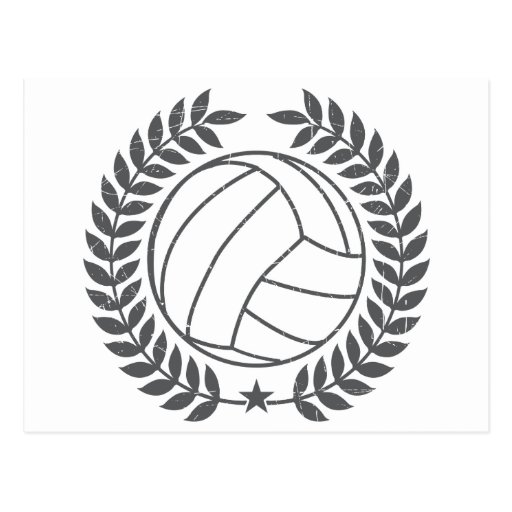 VolleyBall Vintage Graphic Postcards