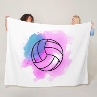 Volleyball Watercolor Fleece Blanket