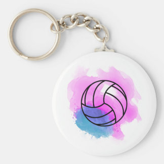 Volleyball Watercolor Keychain