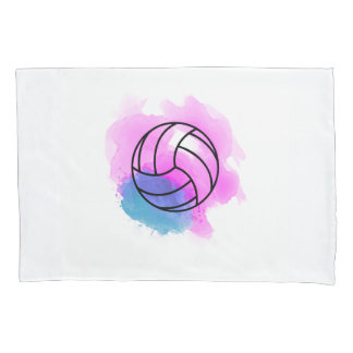 Volleyball Watercolor Pillow Case