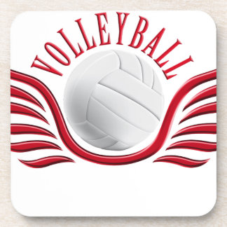 volleyball wings beverage coaster