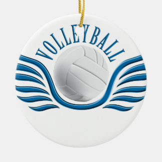 volleyball wings ceramic ornament