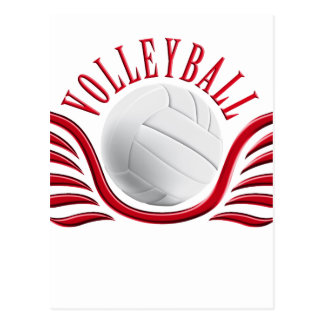 volleyball wings postcard