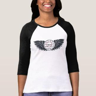 Volleyball Wings Raglan T-Shirt