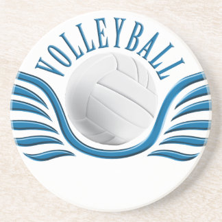 volleyball wings sandstone coaster