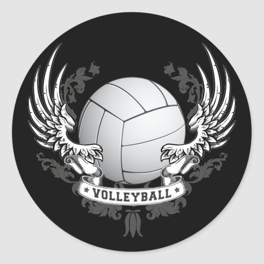 Volleyball Wings Sticker