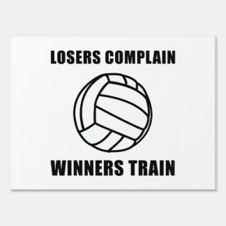 Volleyball Winners Train Sign