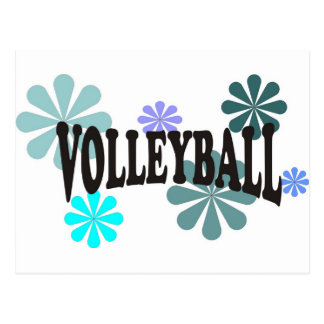 Volleyball with Blue Flowers Postcard