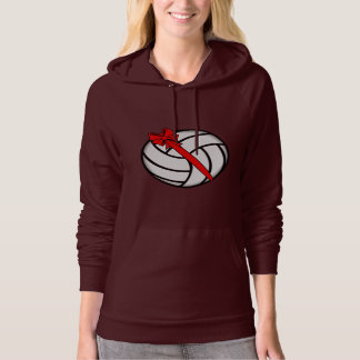 Volleyball with Bow Hoodie