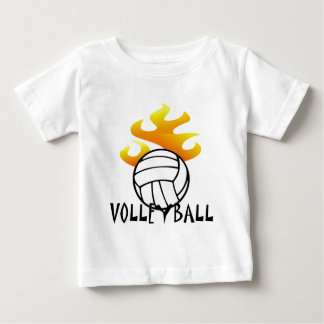 Volleyball with Flames Baby T-Shirt