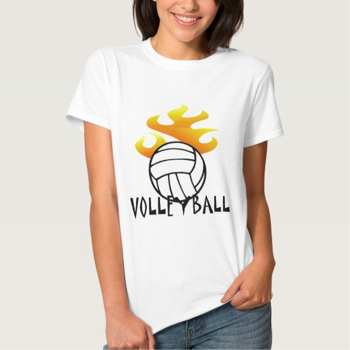 Volleyball with Flames T-Shirt