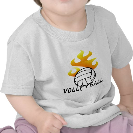 Volleyball with Flames Tees