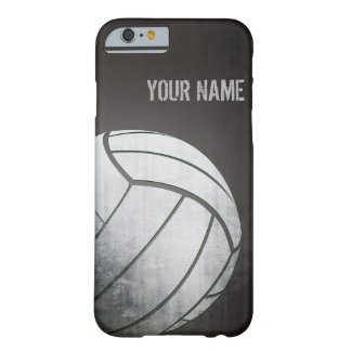 volleyball with Grunge effect Black Shade Barely There iPhone 6 Case