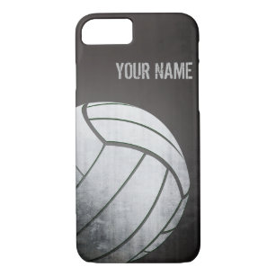 sale retailer be327 2052c volleyball with Grunge effect Black Shade iPhone 8/7 Case