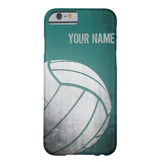 Volleyball with Grunge effect Green Shade Barely There iPhone 6 Case