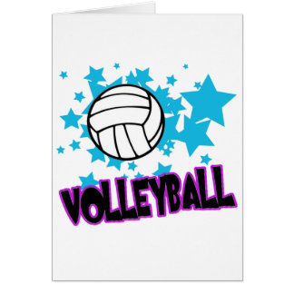 Volleyball with Stars Greeting Card