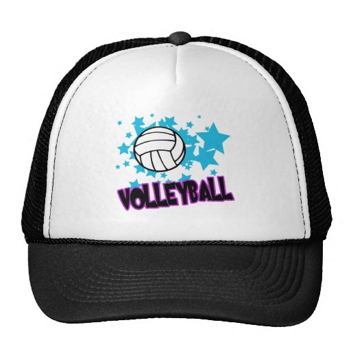 Volleyball with Stars Trucker Hat