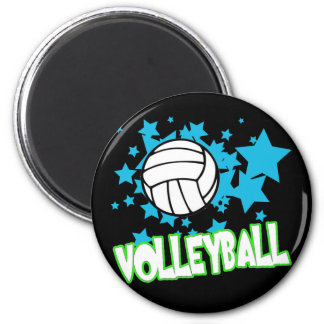 Volleyball with Stars Magnet