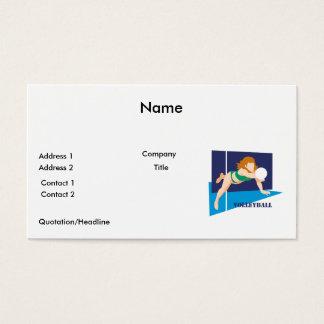 volleyball womens girls business card