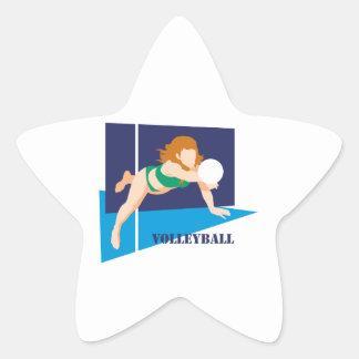 volleyball womens girls star sticker