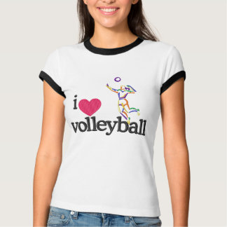 Volleyball Women's Short Sleeved Ringer T-Shirt