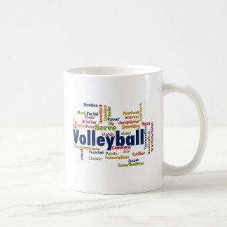 Volleyball Word Cloud Coffee Mug