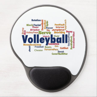 Volleyball Word Cloud Gel Mouse Mats