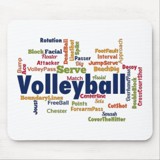 Volleyball Word Cloud Mouse Pad